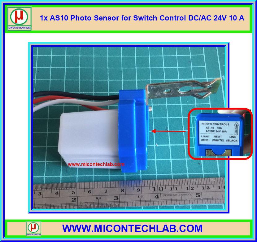 1x AS10 Photo Sensor DC/AC 24V for Switch Control DC/AC 24V 10 A