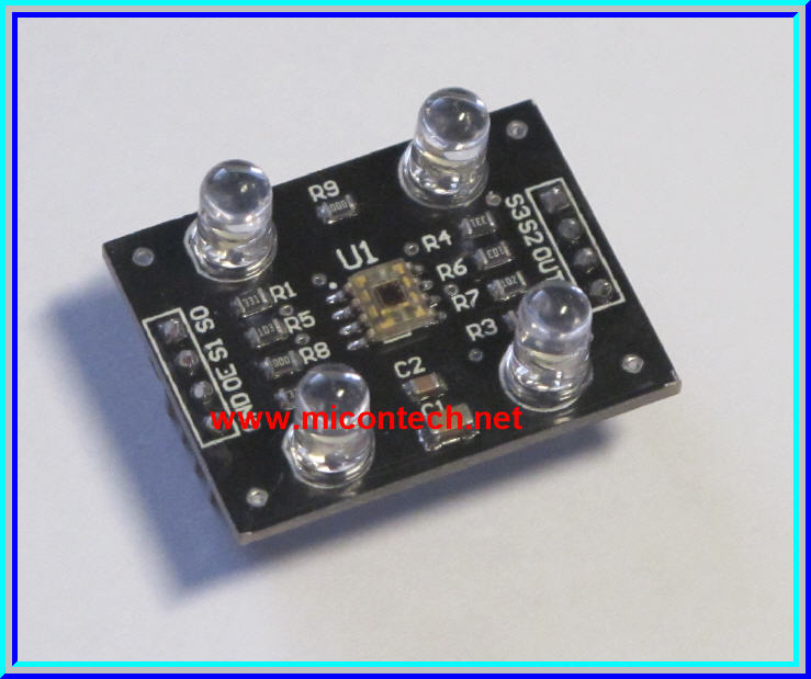 1x TCS230 Programmable Color Light to Frequency Converter Sensor Module