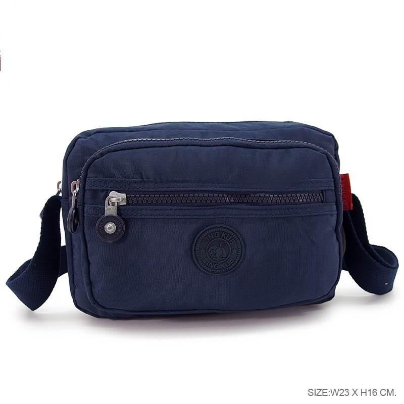 กระเป๋าสะพายข้างสายยาว สีกรม