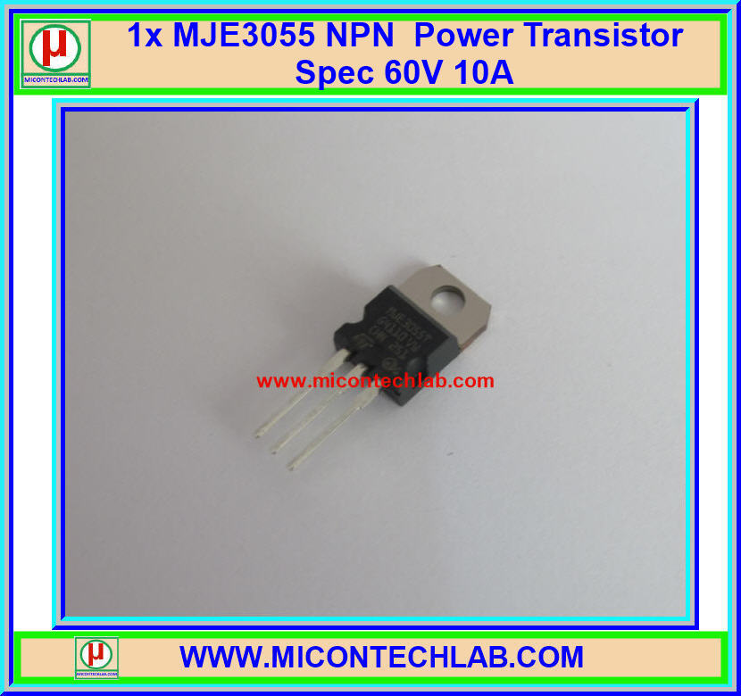 1x MJE3055 NPN Power Transistor Spec 60V 10A