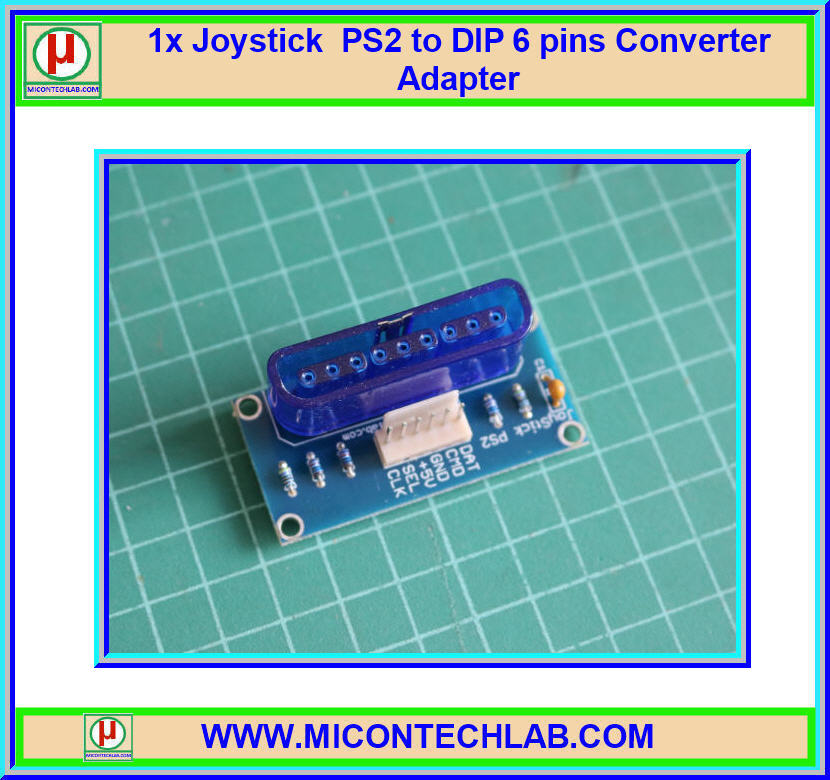 1x Joystick PS2 to DIP 6 pins Converter Adapter (Blue Color)