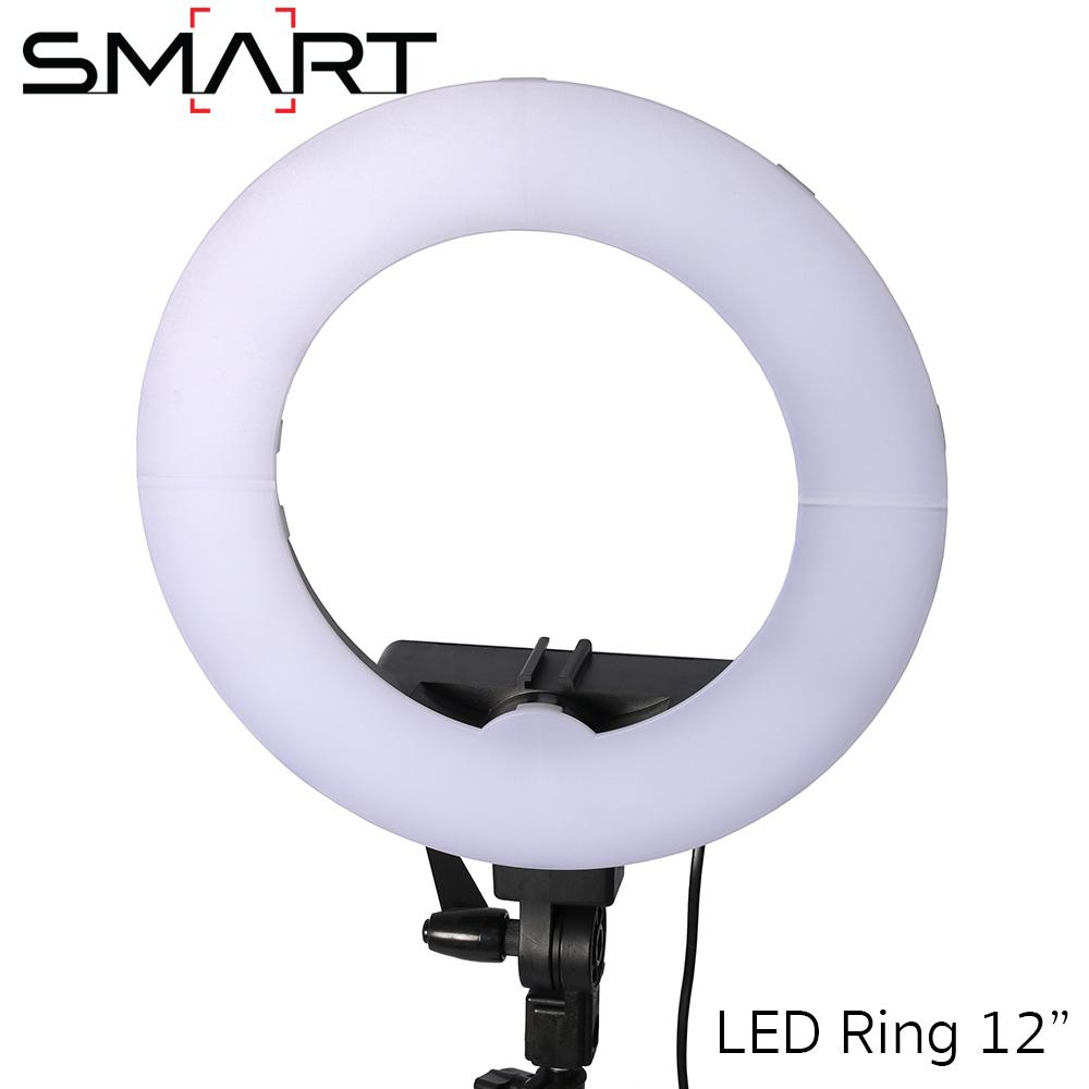"""SMART LED Video Light Lamp 12"""" Studio Ring Light Photography Lighting 5500K"""