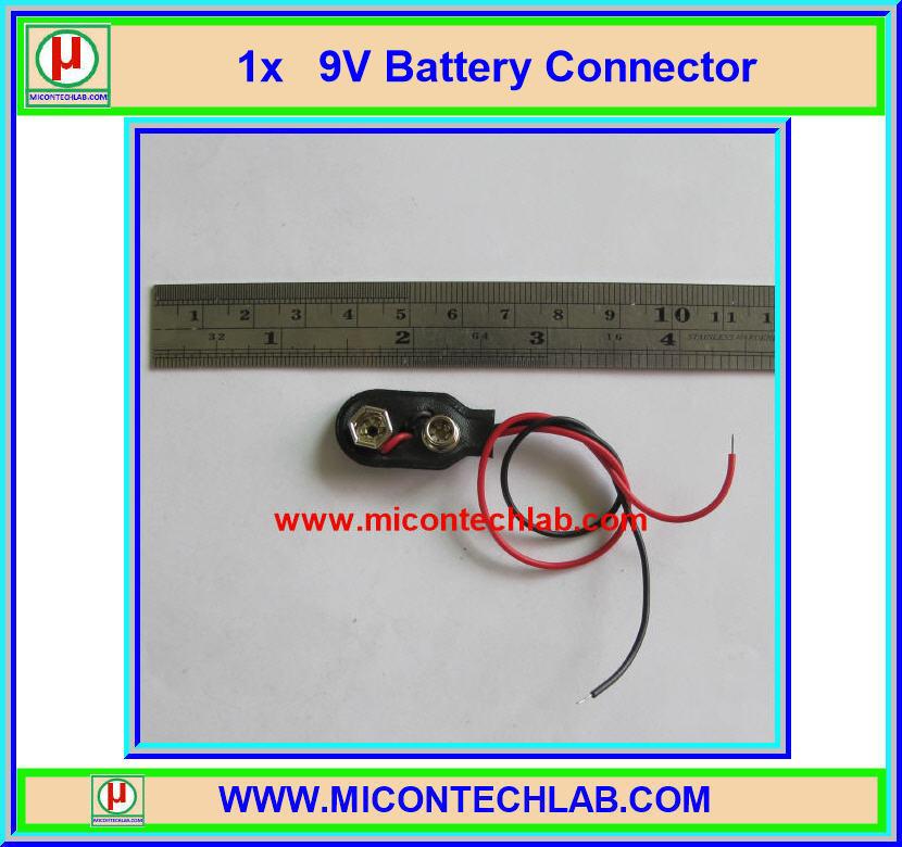 1x 9V Battery Connector (คอนเน็คเตอร์ถ่าน 9V)