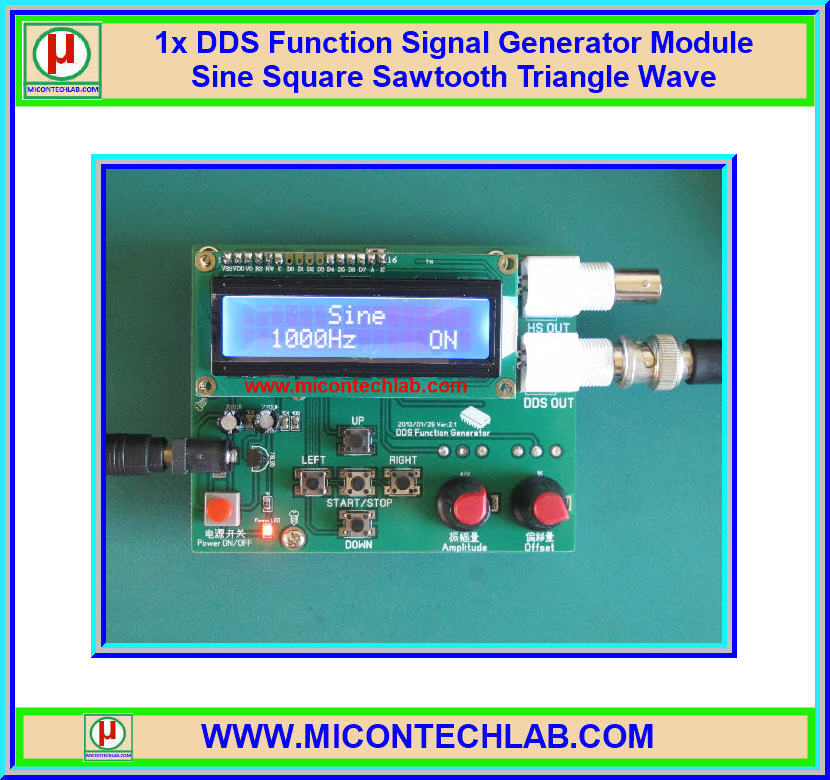 1x DDS Function Signal Generator Module Sine Square Sawtooth Triangle Wave