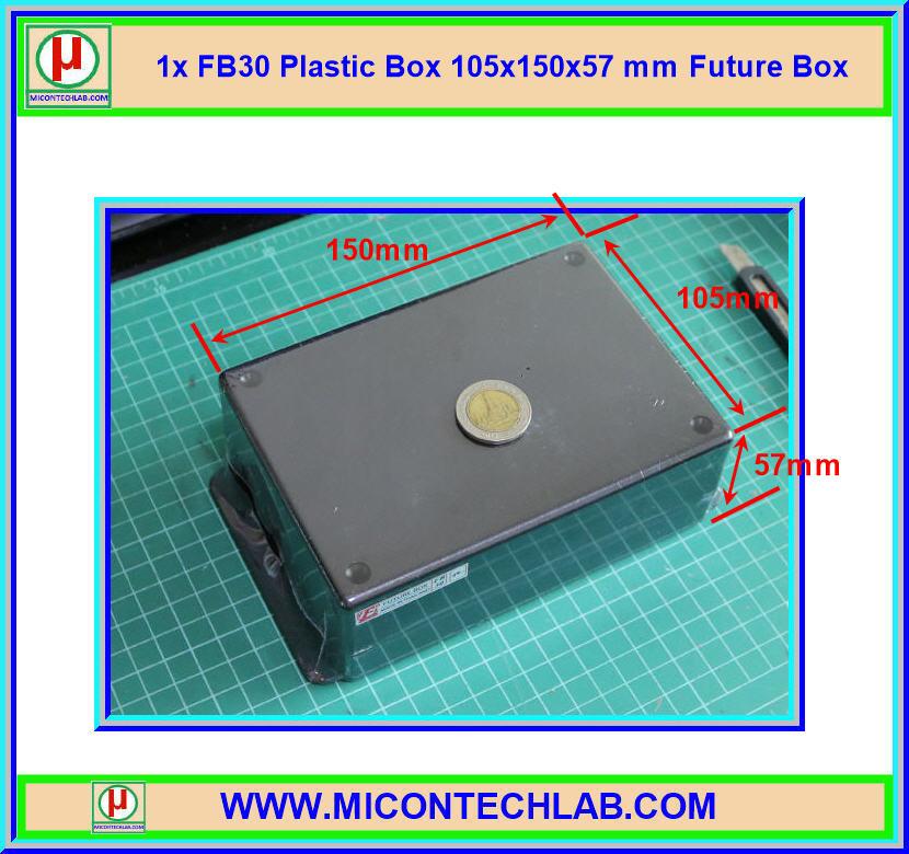 1x กล่อง FB30 สีดำ ขนาด 105x150x57 มม. Future Box