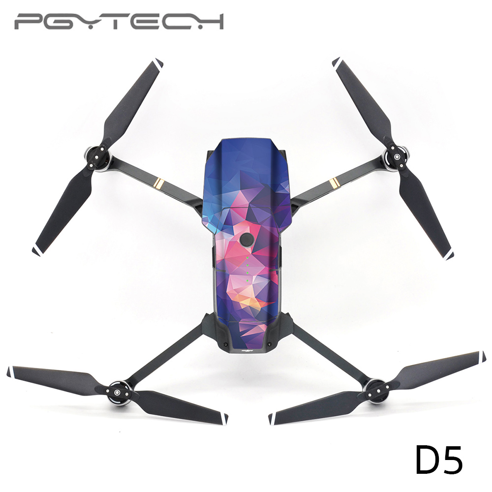 PGYTECH D5 Mavic PRO Sticker Drone Body & 2pcs battery stickers Decals For DJI Mavic PRO Drone Free Remote Control Protective Film