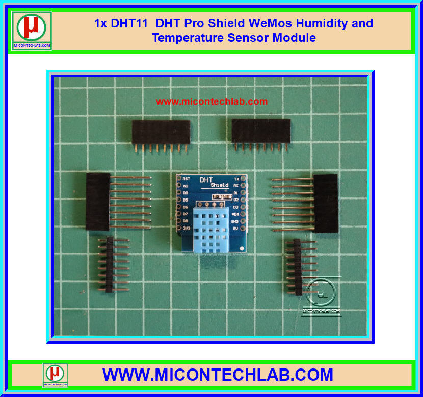 1x DHT11 DHT Pro Shield WeMos Humidity and Temperature Sensor Module