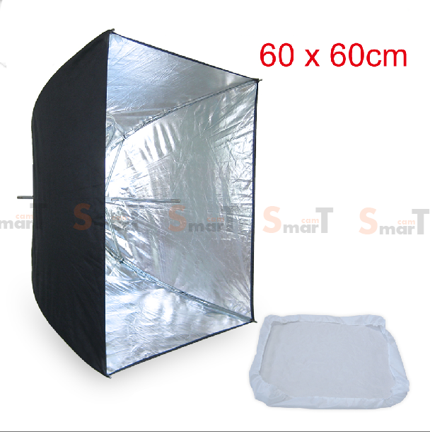 Umbrella softbox 60cm silver