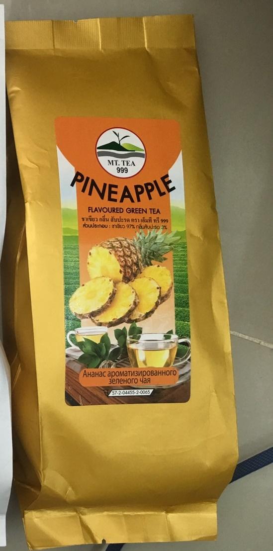 Pineapple Flavoured Green Tea ชาเขียวกลิ่นสับปะรด (ชาเขียว97%กลิ่นสับปะรด3%)