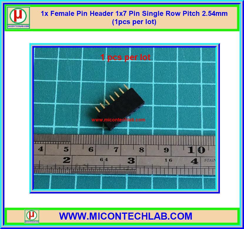 1x Female Pin Header 1x7 Pin Single Row Pitch 2.54mm (1pcs per lot)