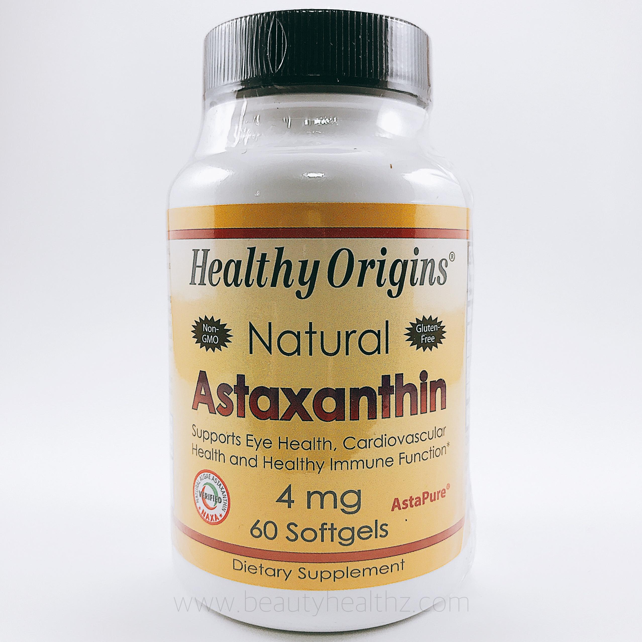 Healthy Origins, Astaxanthin, 4 mg, 60 Softgels