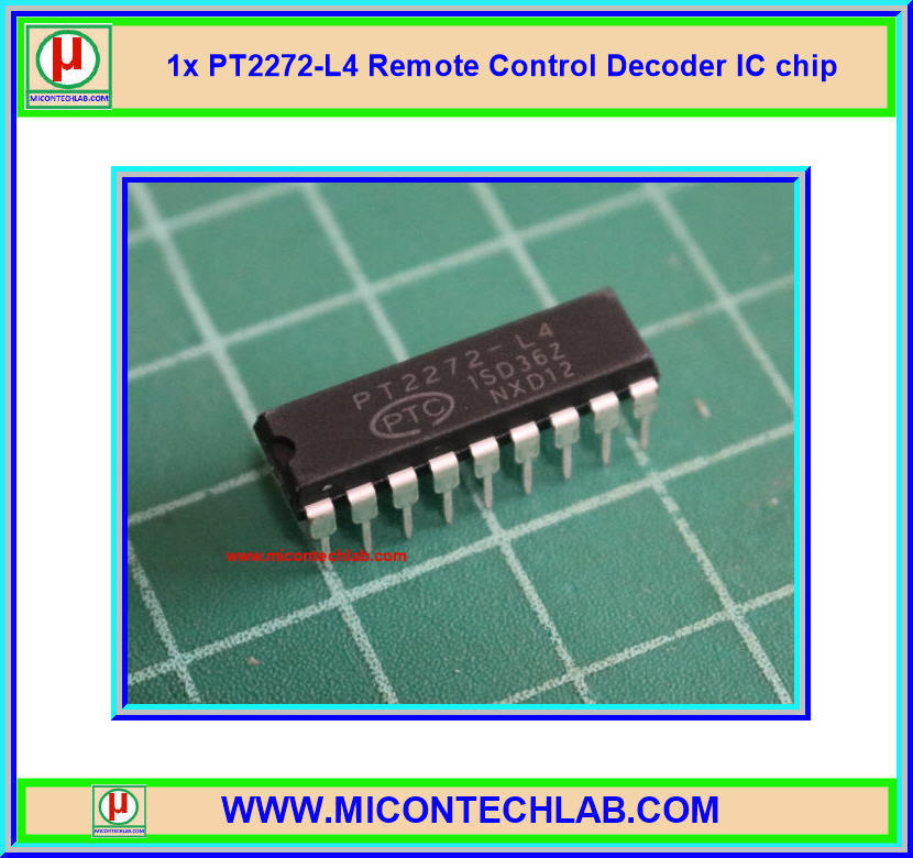 1x PT2272-L4 Remote Control Decoder IC chip (ไอซีถอดรหัสรีโมทคอนโทรล)