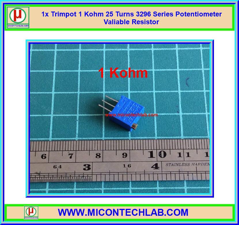 1x Trimpot 1 Kohm 25 Turns 3296 Series Potentiometer Valiable Resistor