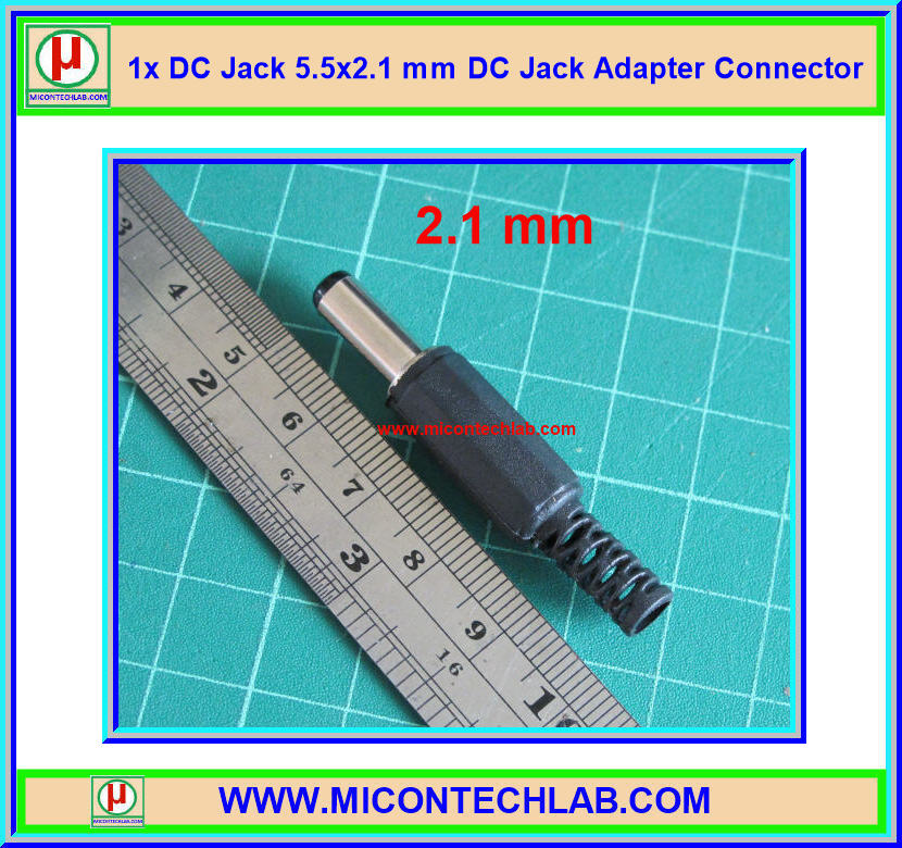 1x DC Jack 5.5x2.1 mm DC Jack Adapter Connector