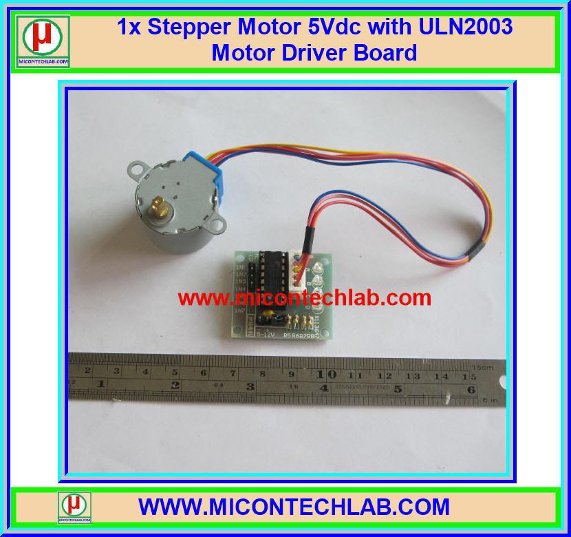 1x สเตปมอเตอร์ 5 V แผงขับมอเตอร์ ULN2003 (Stepper Motor)