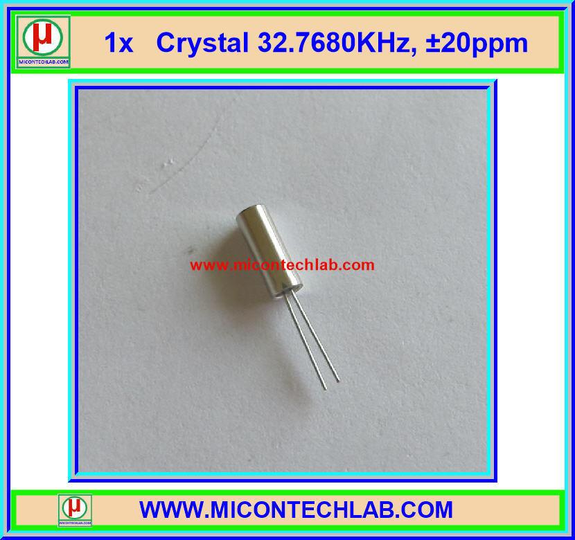 1x คริสตัล 32.768 KHz 3x8mm +/-20ppm 12.5pF (Crystal 32.768 KHz )
