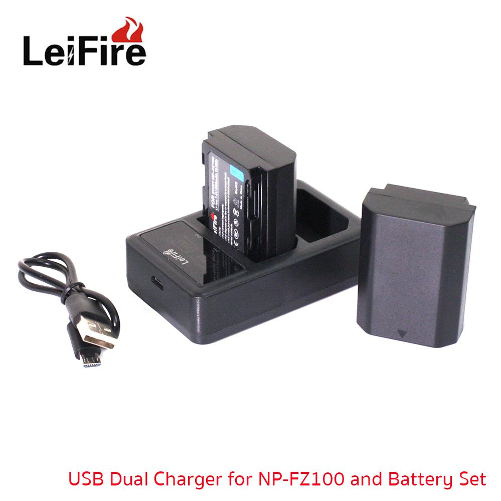 Battery Set LeiFire Dual USB For Sony NP-FZ100 battery Sony ILCE-9 A7RIII a7r3 A9 7RM3