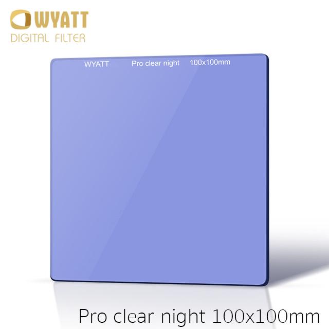 WYATT 100x100mm Square Natural Night Clear-Night Light Pollution Glass Filter