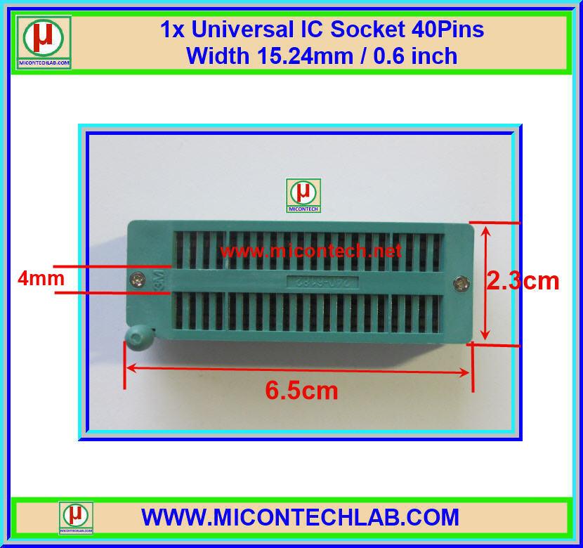 1x Universal IC Socket 40Pins Width 15.24mm / 0.6 inch 3M Brand
