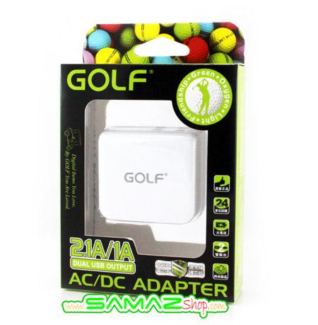 ราคาพิเศษ หัวชาร์จ Golf Dual USB มี 2 ช่องชาร์จ คือทั้ง 2.1A และ 1A ใช้ได้ทั้ง มือถือ และ Tablet มีหัวนี้ชาร์จอะไรก็ได้