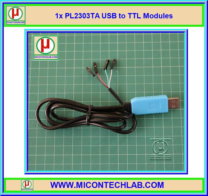 1x New PL2303TA USB to TTL Module Support All XP Vista 7, 8, 8.1,10 OS