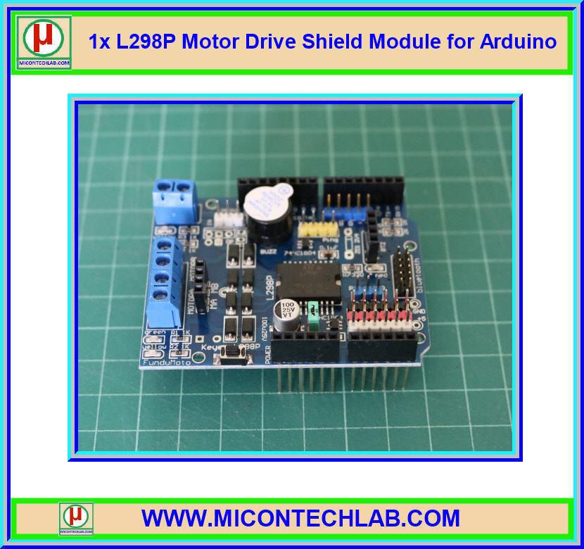 1x L298P Motor Drive Shield Module for Arduino