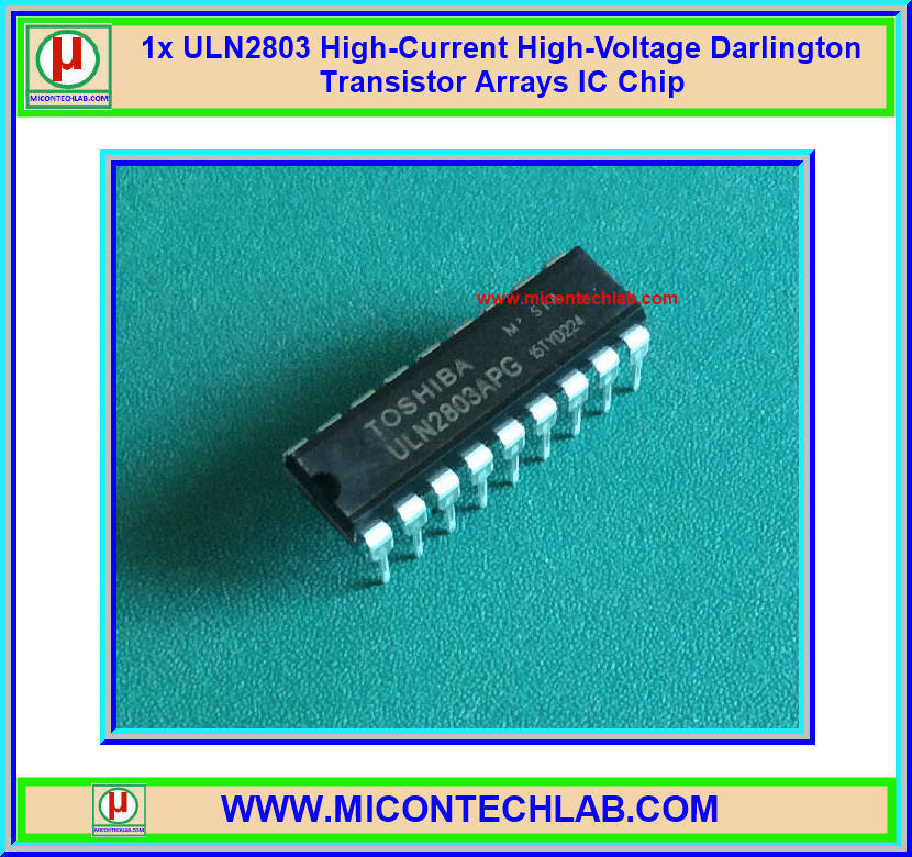 1x ULN2803 High-Current High-Voltage Darlington Transistor Arrays IC chip (Toshiba)