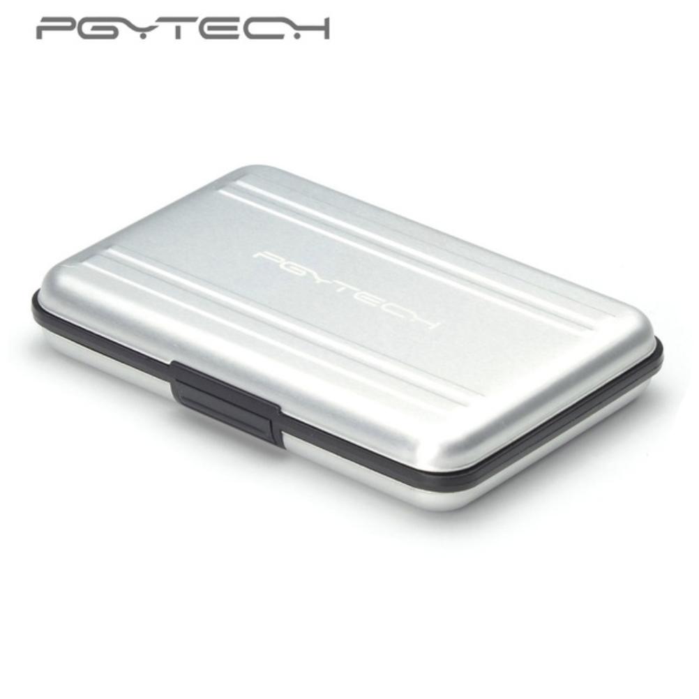 PGYTECH silver SD SDHC CF Memory Card Case Carrying bag Box Holder Protector