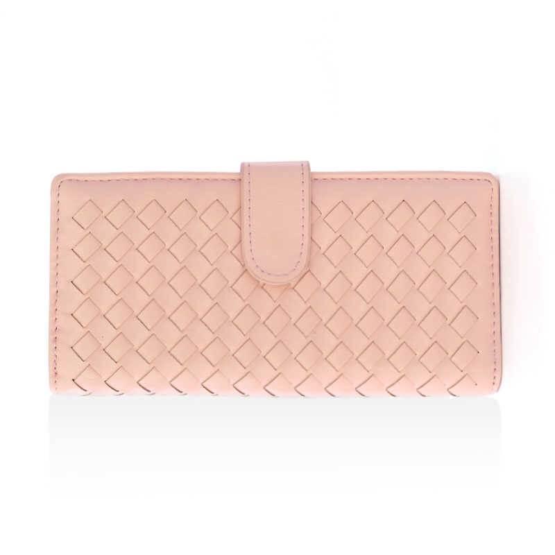 กระเป๋าสตางค์ทรงยาว สีชมพู