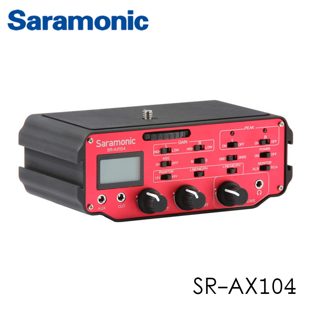 Saramonic SR-AX104 Two-Channel XLR Audio Adapter with Preamplifiers
