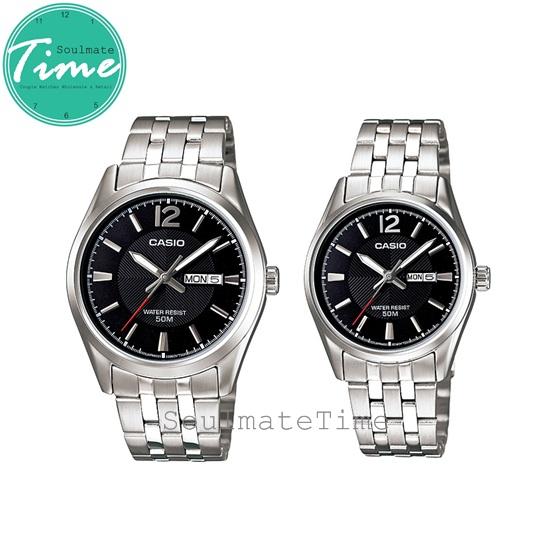 นาฬิกาคู่ ของขวัญ นาฬิกาคู่รัก ราคาถูก ยี่ห้อ Casio รุ่น 1335D-1A