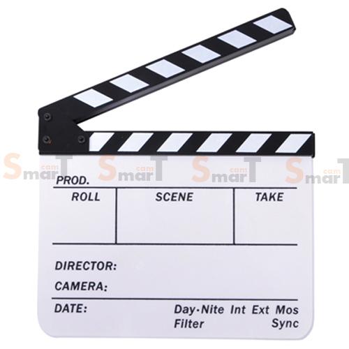 (Q004) whiteboard Movie Film Slate ( white )