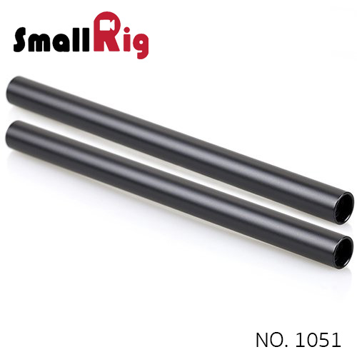 SMALLRIG® 2pcs 15mm Black Aluminum Alloy Rod(M12-20cm) 8inch 1051