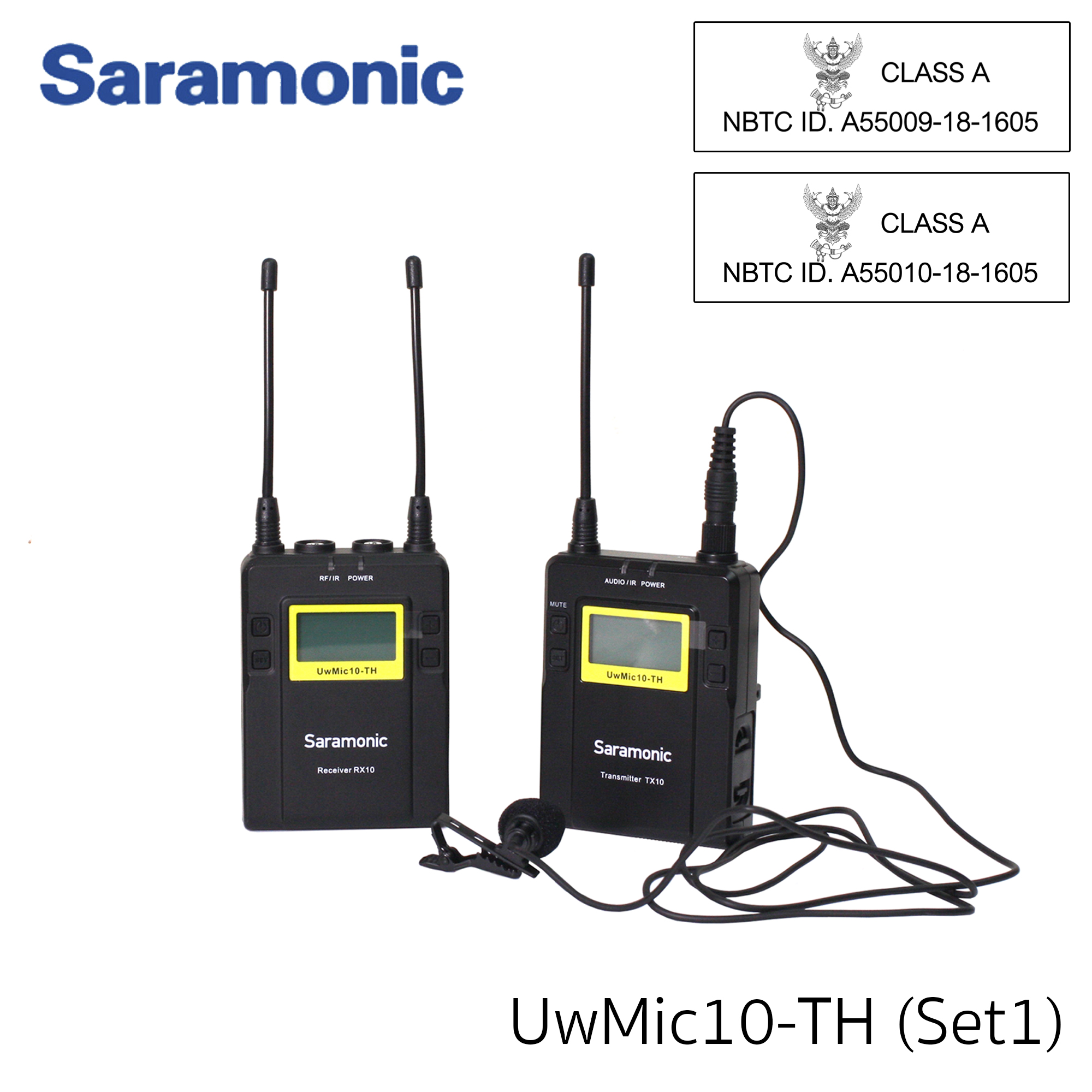 Saramonic UWMIC10-TH Set 96-Channel Digital UHF Wireless Lavalier Microphone System