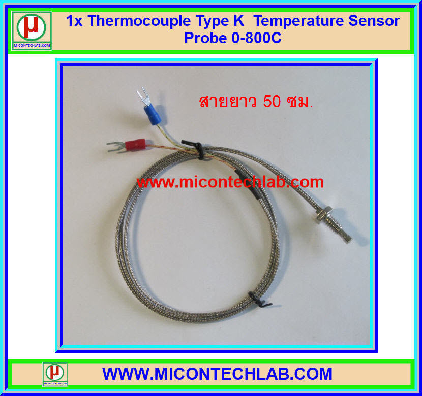1x Thermocouple Type K Temperature Sensor Probe 0-800 C