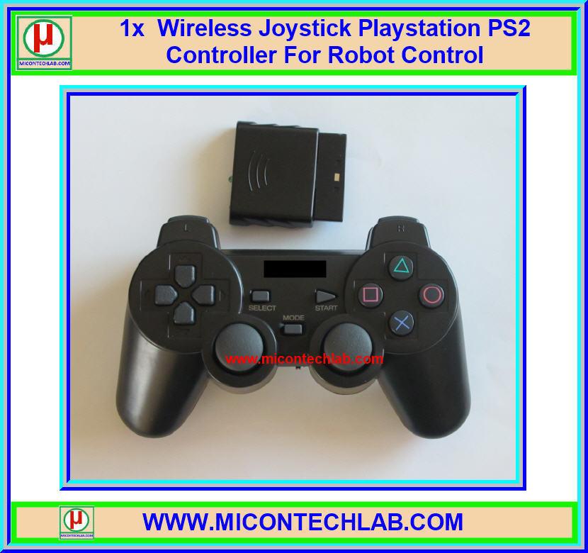 1x Wireless Joystick Playstation PS2 Controller For Robot Control (จอยไร้สายสำหรับควบคุมหุ่นยนต์)