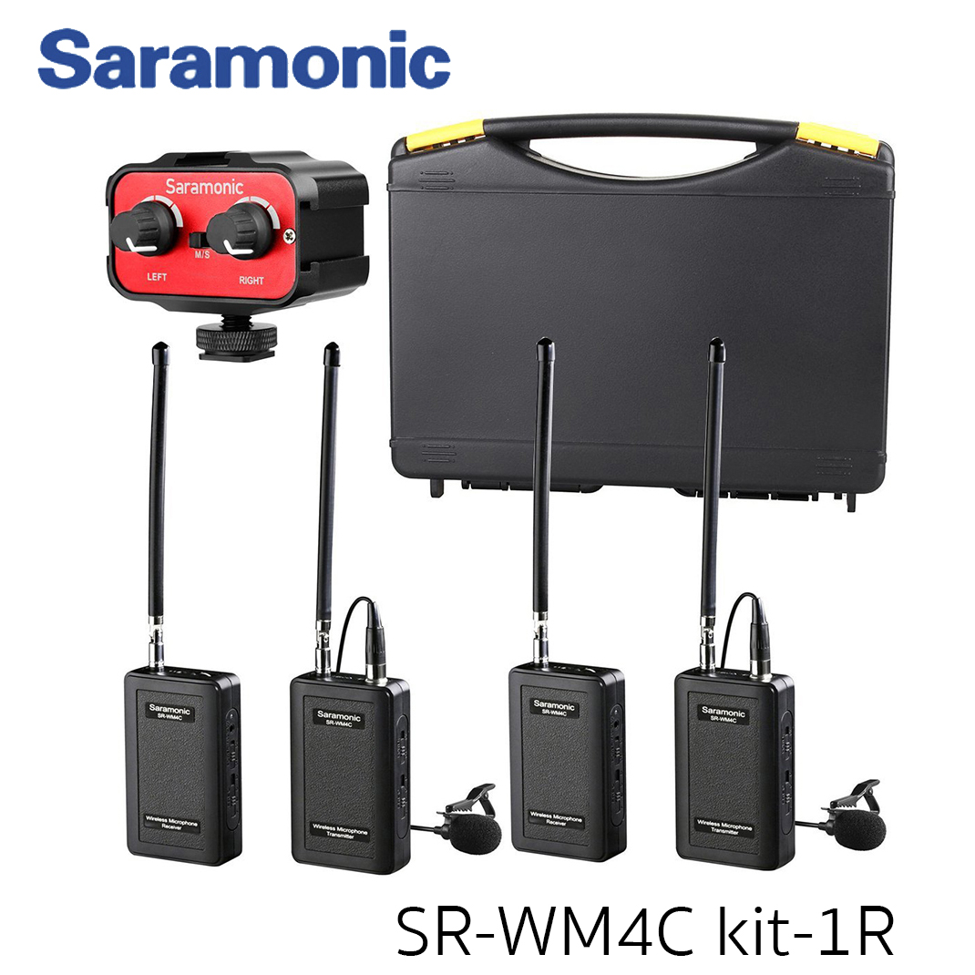 Saramonic Wireless VHF Lavalier Microphone Bundle with 2 Bodypack Transmitters, 2 Receivers, and 2-Ch Mixer for DSLR Cameras, Camcorders + More - 200'
