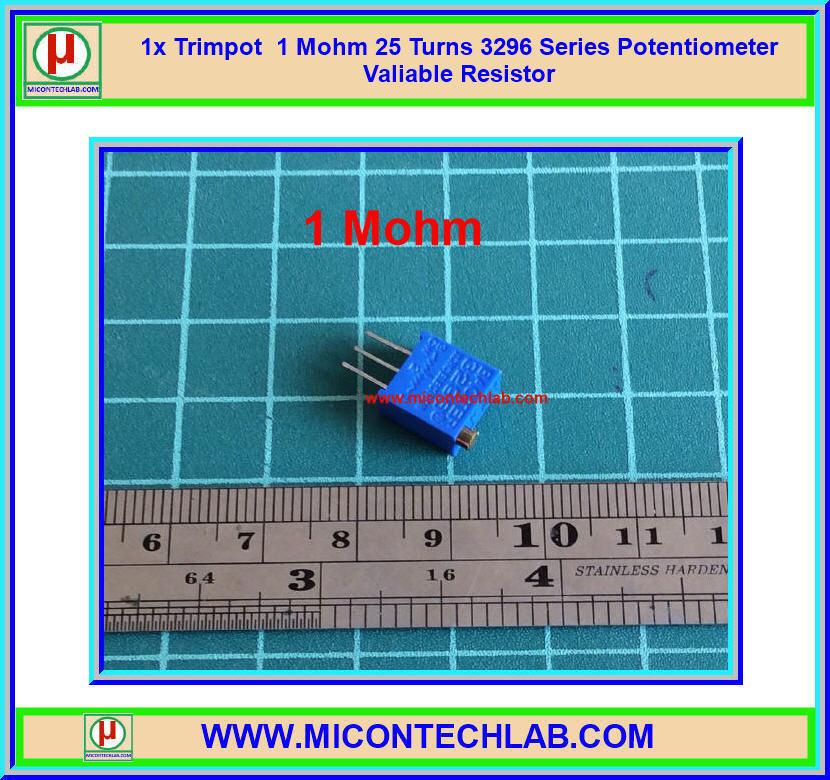 1x Trimpot 1 Mohm 25 Turns 3296 Series Potentiometer Valiable Resistor
