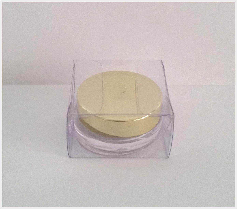 กล่อง ตลับครีม/กระปุกครีม ขนาด 4.1 x 4.1 x 2.3 cm