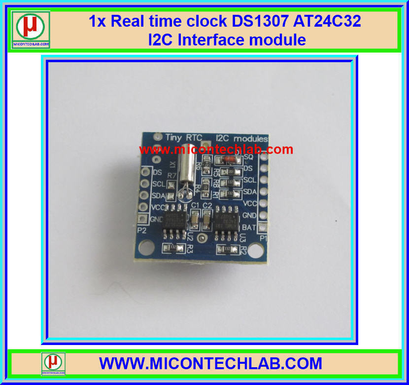 1x Real time clock DS1307 AT24C32 I2C Interface module