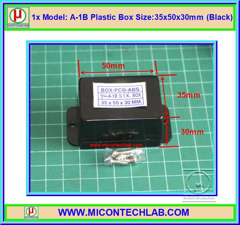 1x Model: A-1B Plastic Box Size:35x50x30mm (Black)