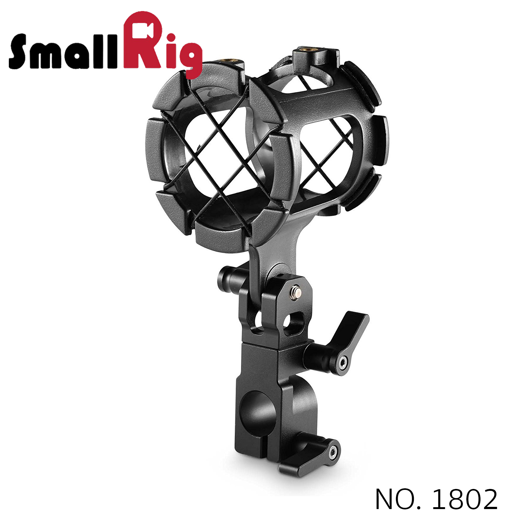 SMALLRIG® Microphone Support with 15mm Rod Clamp 1802