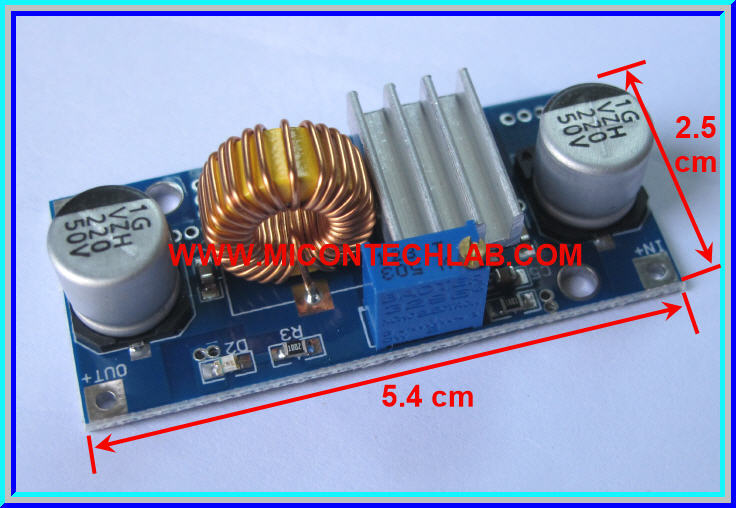 1x XL4015 Step down (Buck) DC to DC Converter 5Amp module + Heatsink