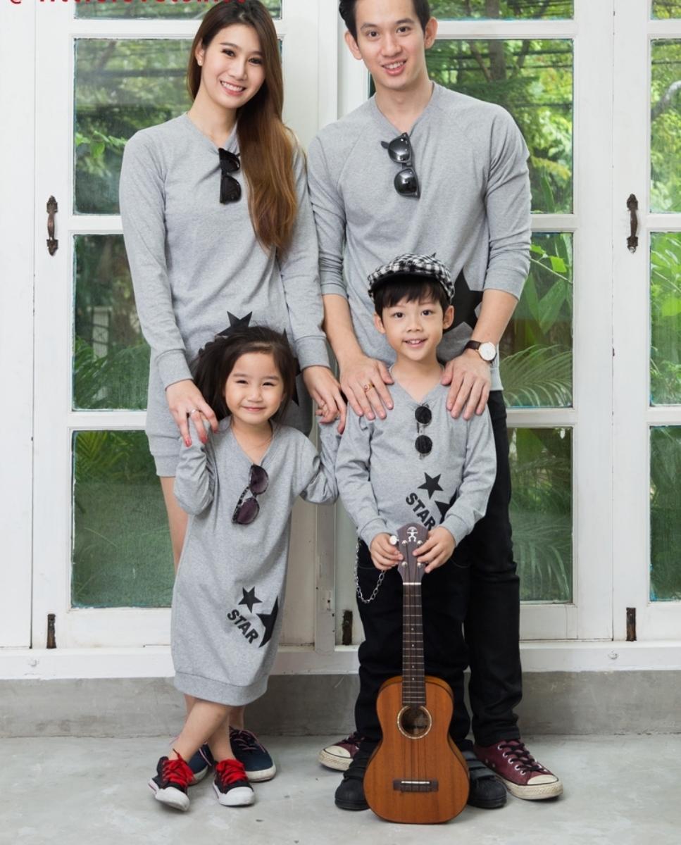 เสื้อครอบครัว ชุดครอบครัว พ่อ แม่ ลูก Twinkle Collection