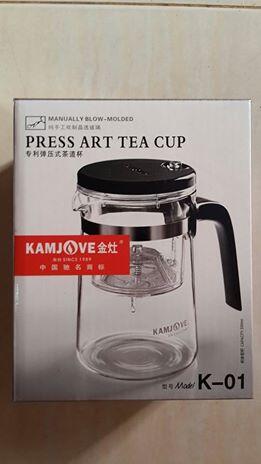 แก้วชงชา แบบสำเร็จรูป มีที่กรองในตัว 500 ML. Kamjove แก้วใสอย่างดี รวม EMS 320 บาท