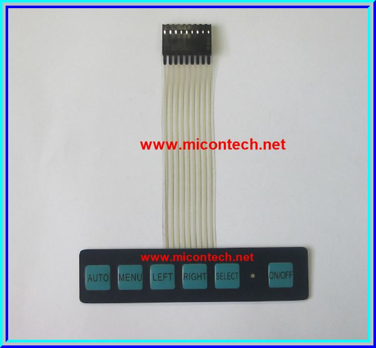 1x Membrane Switch Keypad 1x6 Keys with LED