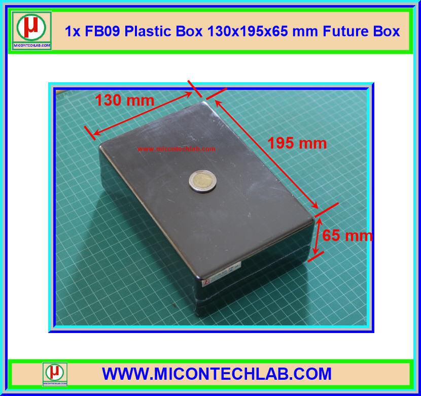 1x FB09 Plastic Box 130x195x65 mm Future Box