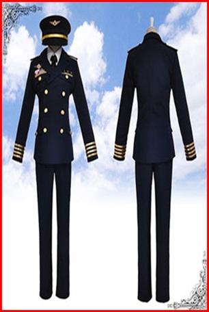 ชุดกัปตันนักบิน / ชุดสจ๊วต / ชุดนักบิน / ชุดการบิน XXL-XXXL