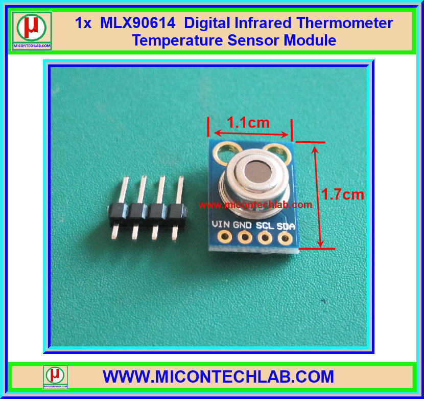 1x MLX90614 Digital Infrared Thermometer Temperature Sensor Module