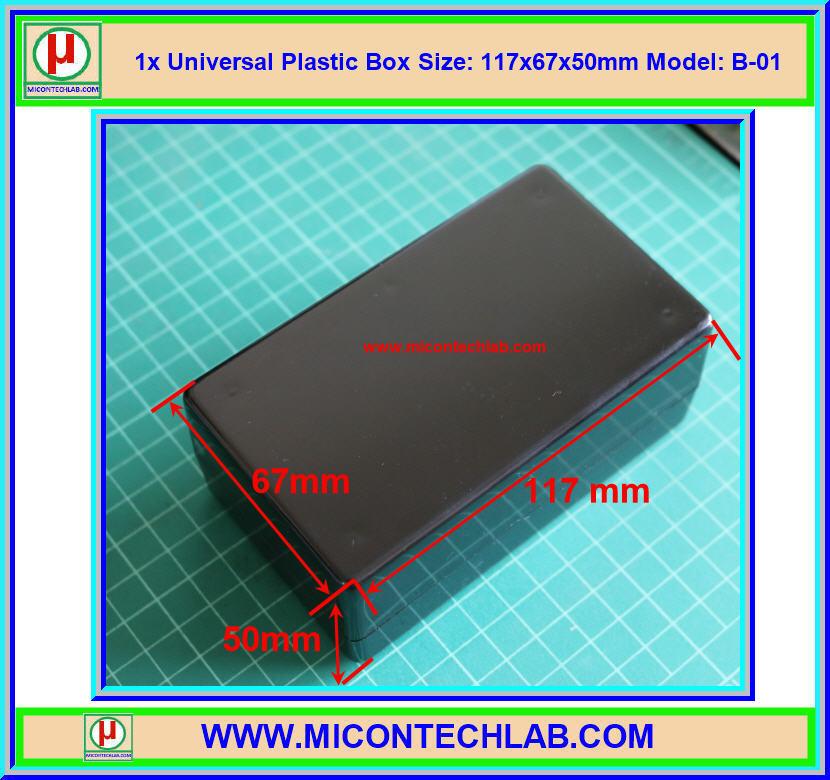 1x Model: B-01 Plastic Box Size:117x67x50mm